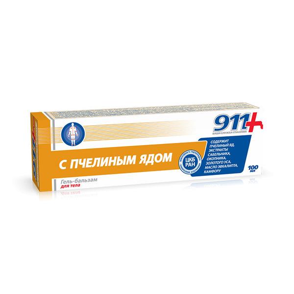 911 пчелиный яд гель-бальзам д/суставов 100г