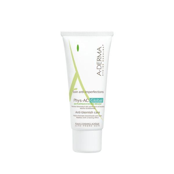 А-дерма phys-ac global крем для комплексного ухода за проблемной кожей 40мл (c46772)