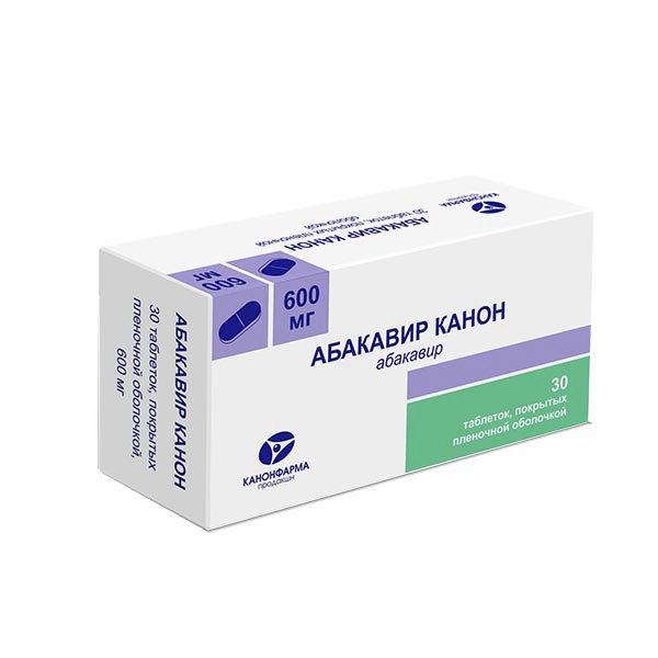 Абакавир канон таб. покрытые пленочной оболочкой 600мг №30