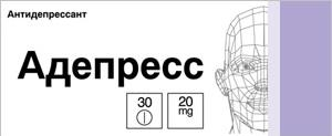 Адепресс таб. п.о 20мг n30