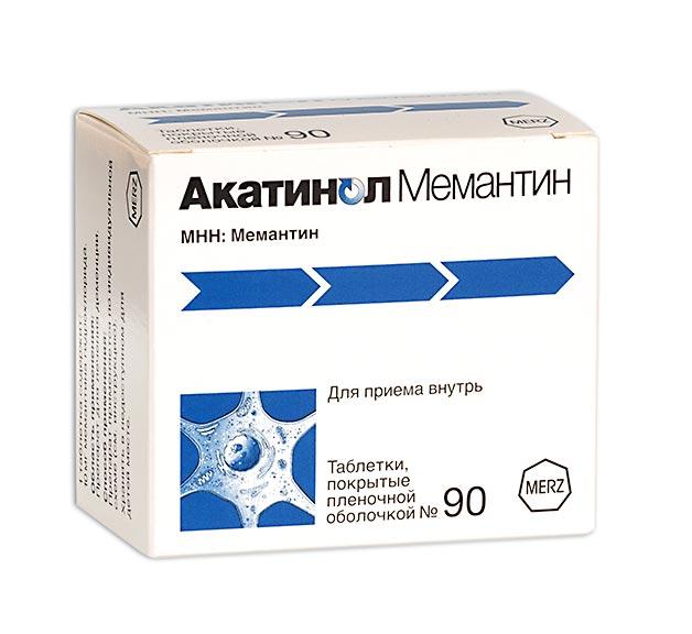 Акатинол мемантин таб. п.п.о. 10мг n90