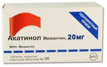Акатинол мемантин таб. п.п.о. 20мг n98