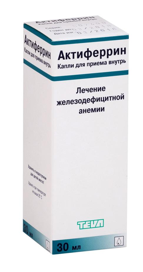 Актиферрин капли 30мл n1