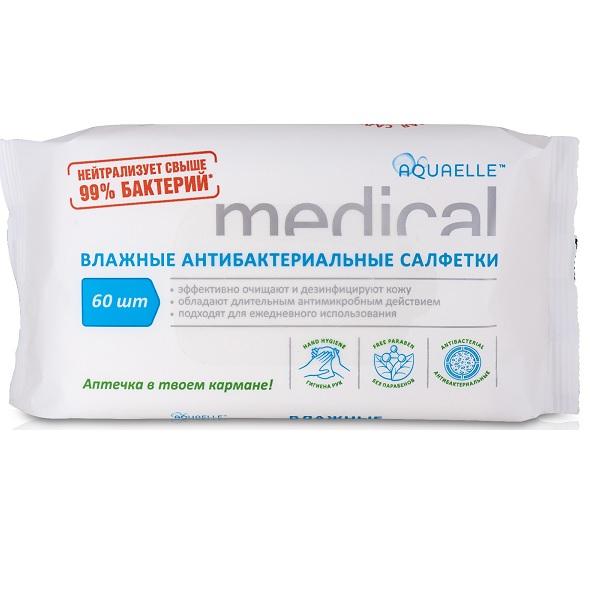 Акваэль medical салфетки влажные антибактериальные №20