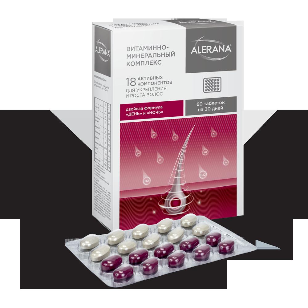 Алерана витаминно-минеральный комплекс таб. 570мг n60 (формула день-ночь)
