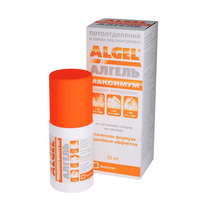 Алгель дезодорант антиперспирант максимум 50мл