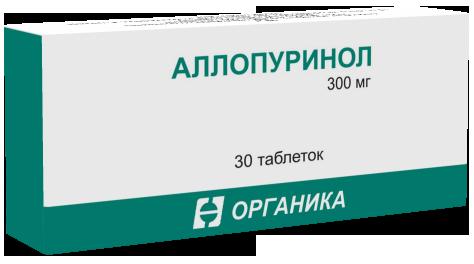 Аллопуринол таб. 300мг n30