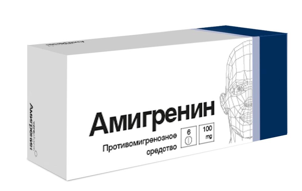 Амигренин таб. п.о 100мг n6