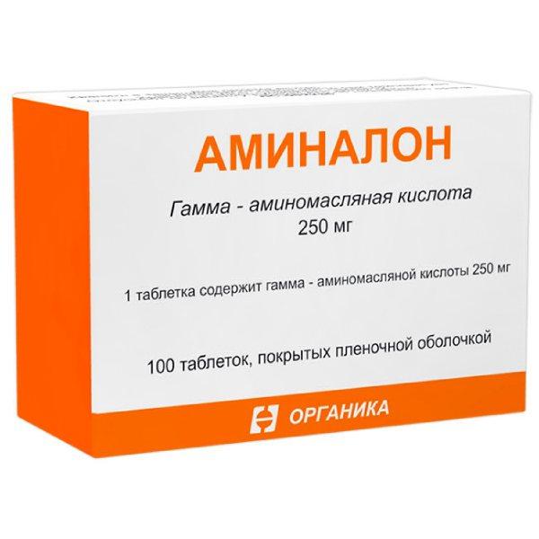 Аминалон таб. п.о 250мг n100