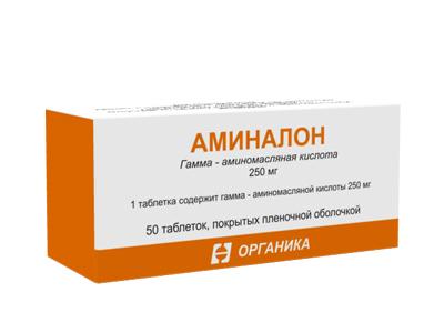 Аминалон таб. п.о 250мг n50