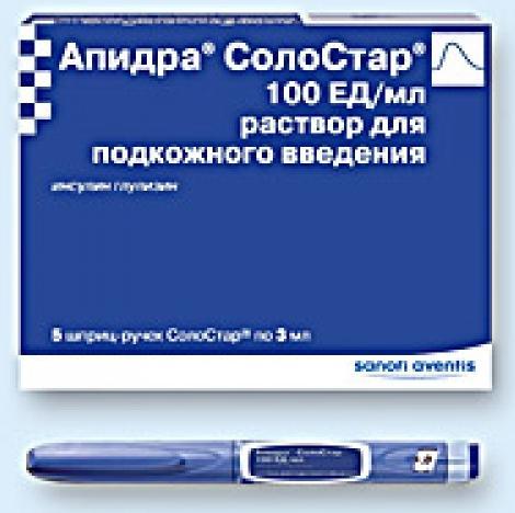 Апидра солостар р-р п/к 100ме/мл 3мл n5