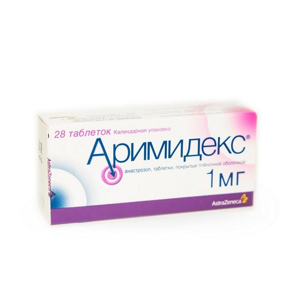 Аримидекс таб. п/о плен. 1мг №28