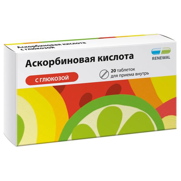 Аскорбиновая к-та с глюкозой таб. n20