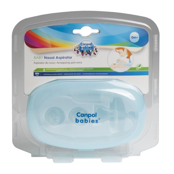 Аспиратор Canpol babies (Канпол бейбис) назальный + 2 сменных насадки