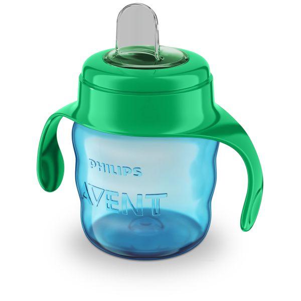 АВЕНТ Чашка-поильник с носиком из силикона с 6 мес. голубая 200мл (SCF551/05)