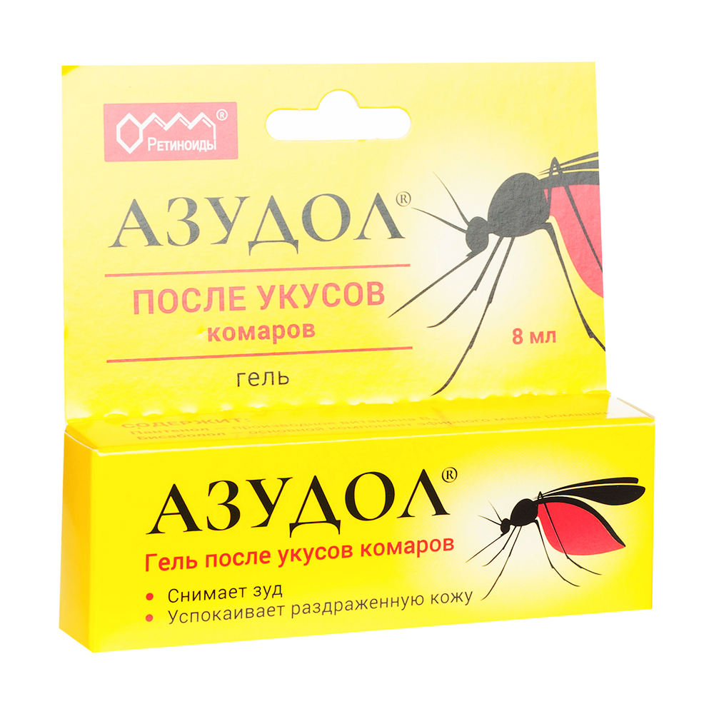 Азудол гель после укусов комаров туба 8мл