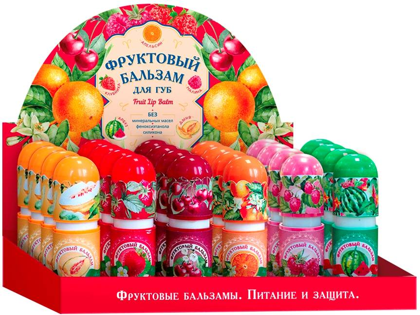 Бальзам д/губ 6 фруктовых вкусов n24