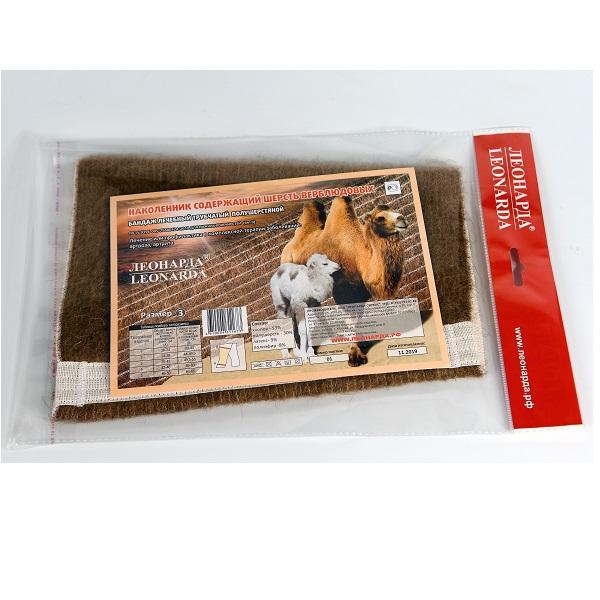 Бандаж (наколенник) лечебный трубчатый полушерстяной содержащий шерсть верблюдовых для нижних конечностей разм. 3