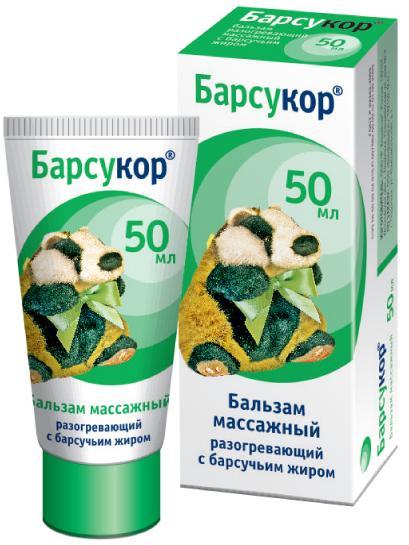 Барсукор бальзам-крем массажный с барсучьим жиром 50мл