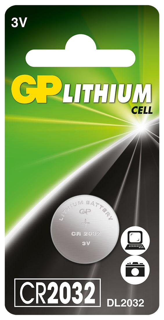 Батарейка литиевая gp cr2032 3в №1