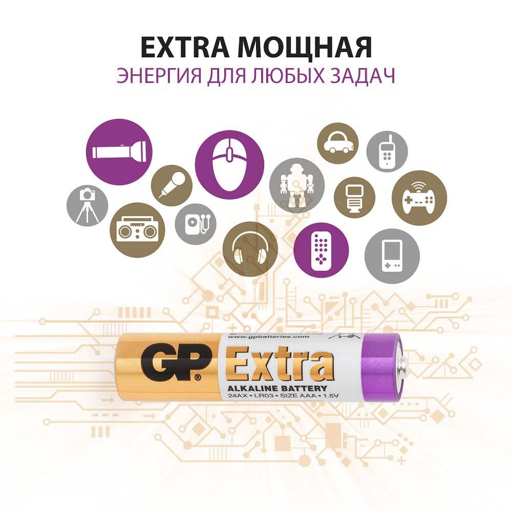 Батарейки алкалиновые gp (ааа) lr03 1,5в №5