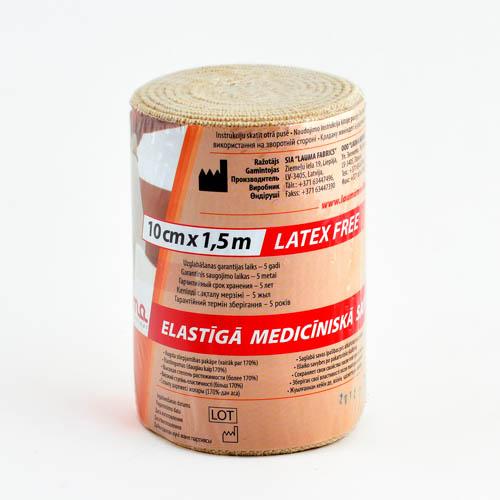 Бинт эластичный ср 1,5мх10см (застежка)