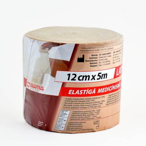 Бинт эластичный вр 5мх12см (застежка)