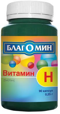 Благомин витамин h (биотин) капс. 150мкг n90