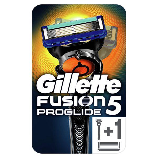 Бритва Gillette (Жиллетт) безопасная Fusion ProGlide Flexball + 2 сменные кассеты