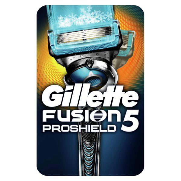 Бритва Gillette (Жиллетт) безопасная Fusion Proshield Chill + 1 сменная кассета