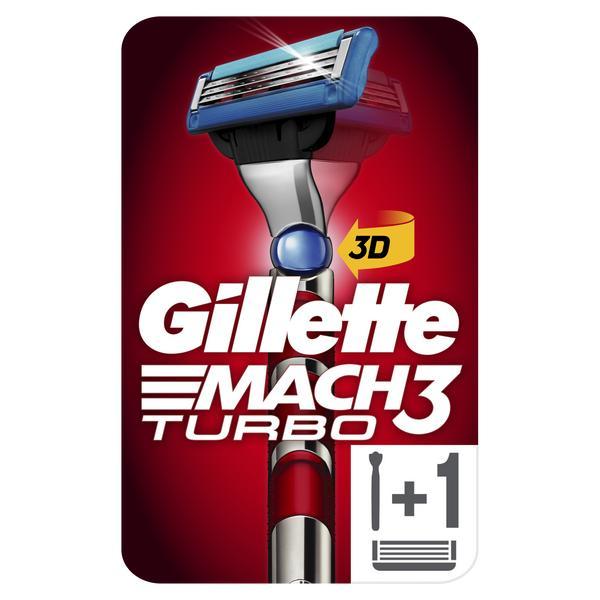 Бритва Gillette (Жиллетт) Mach3 Turbo со 1 сменной кассетой