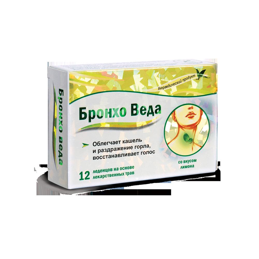 Бронхо веда леденцы травяные №12 (со вкусом лимона)