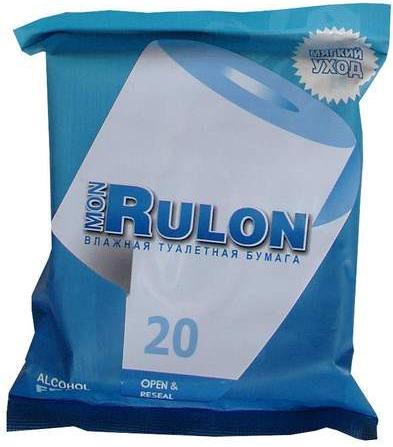 Бумага туалетная влажная мон рулон n20