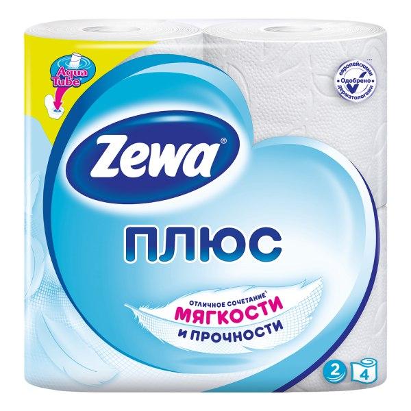 Бумага туалетная зева плюс белая n4 2х сл (144051)