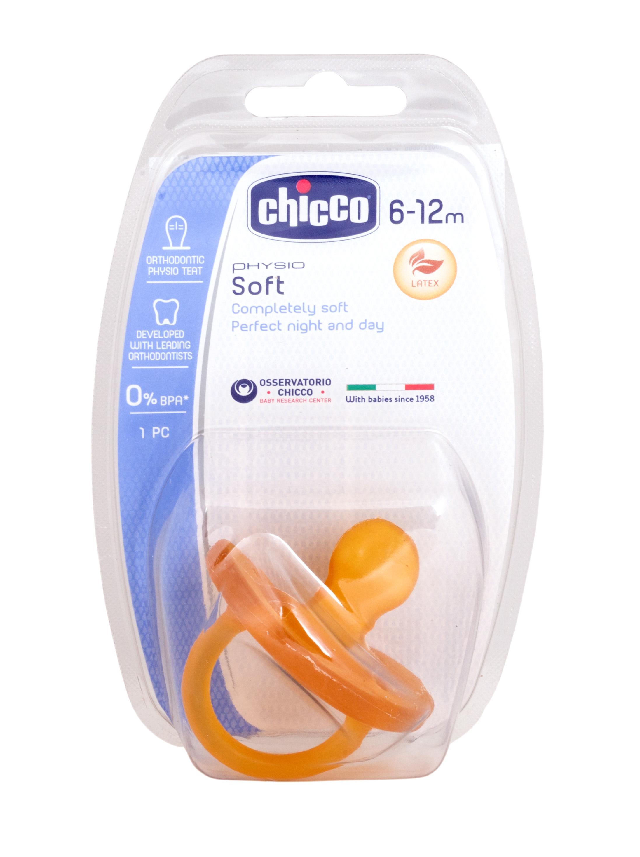 Чикко/chicco пустышка латекс physio soft 6-12+мес (310410138)