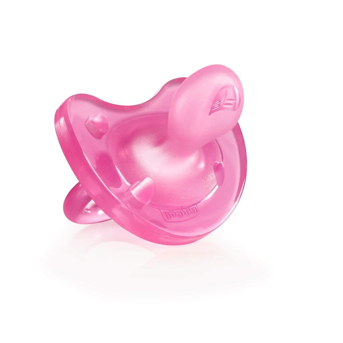 Чикко/chicco пустышка силикон физио софт розовая 0+мес (0067/0151)