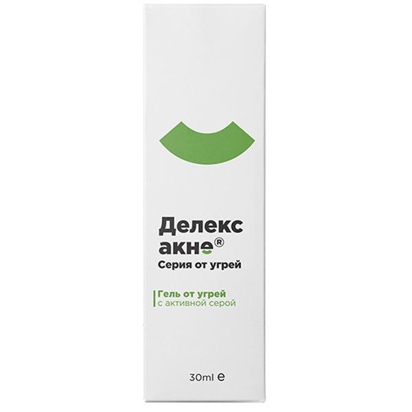 Делекс-акне гель от угревой сыпи 30мл