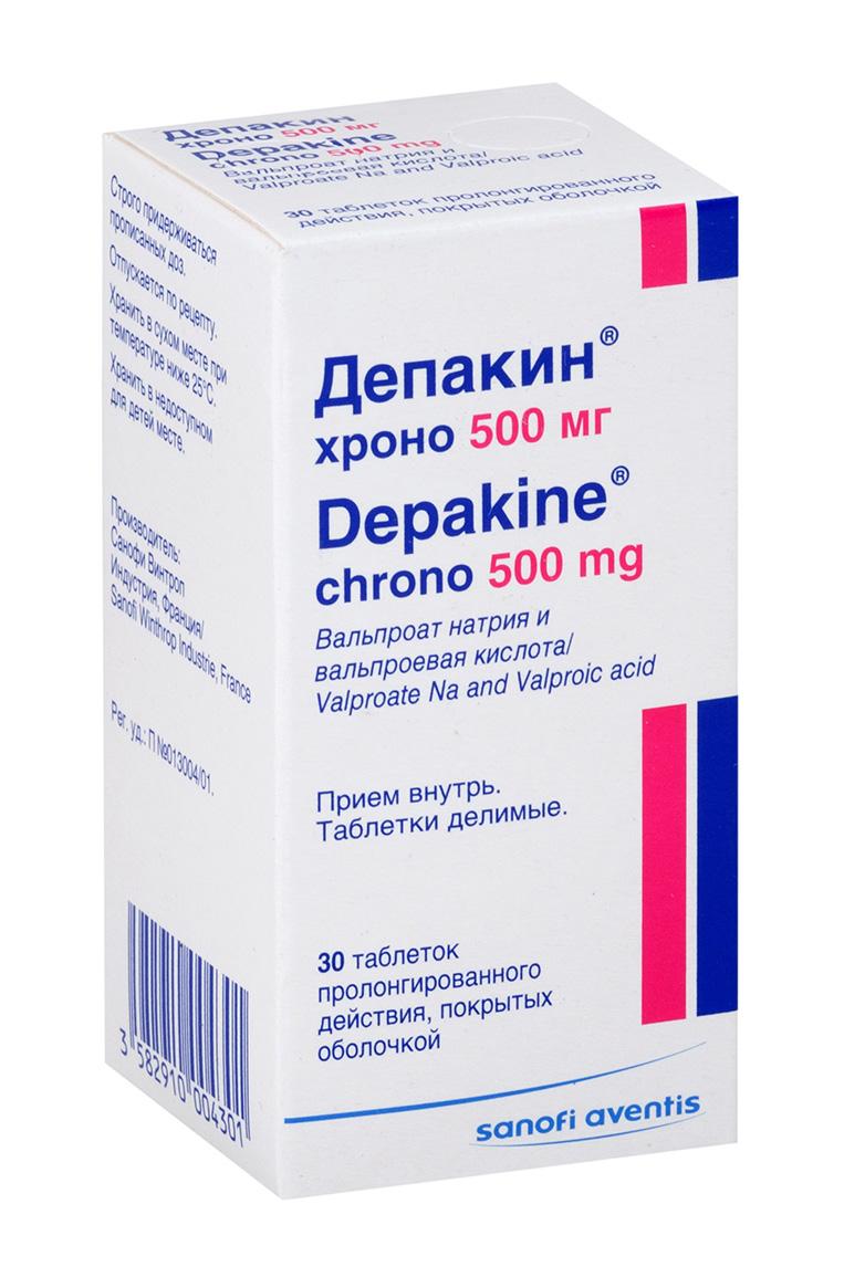Депакин хроно таб.пролонг.п.о. 500мг n30