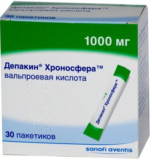 Депакин хроносфера гран. д/приема внутрь пролонг 1г n30