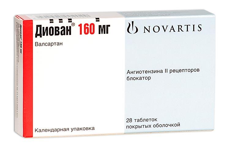Диован таб. п.о 160мг n28