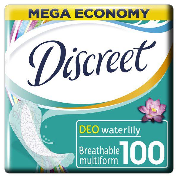 Дискрит прокладки женские гигиенические на каждый день deo water lily multiform №100