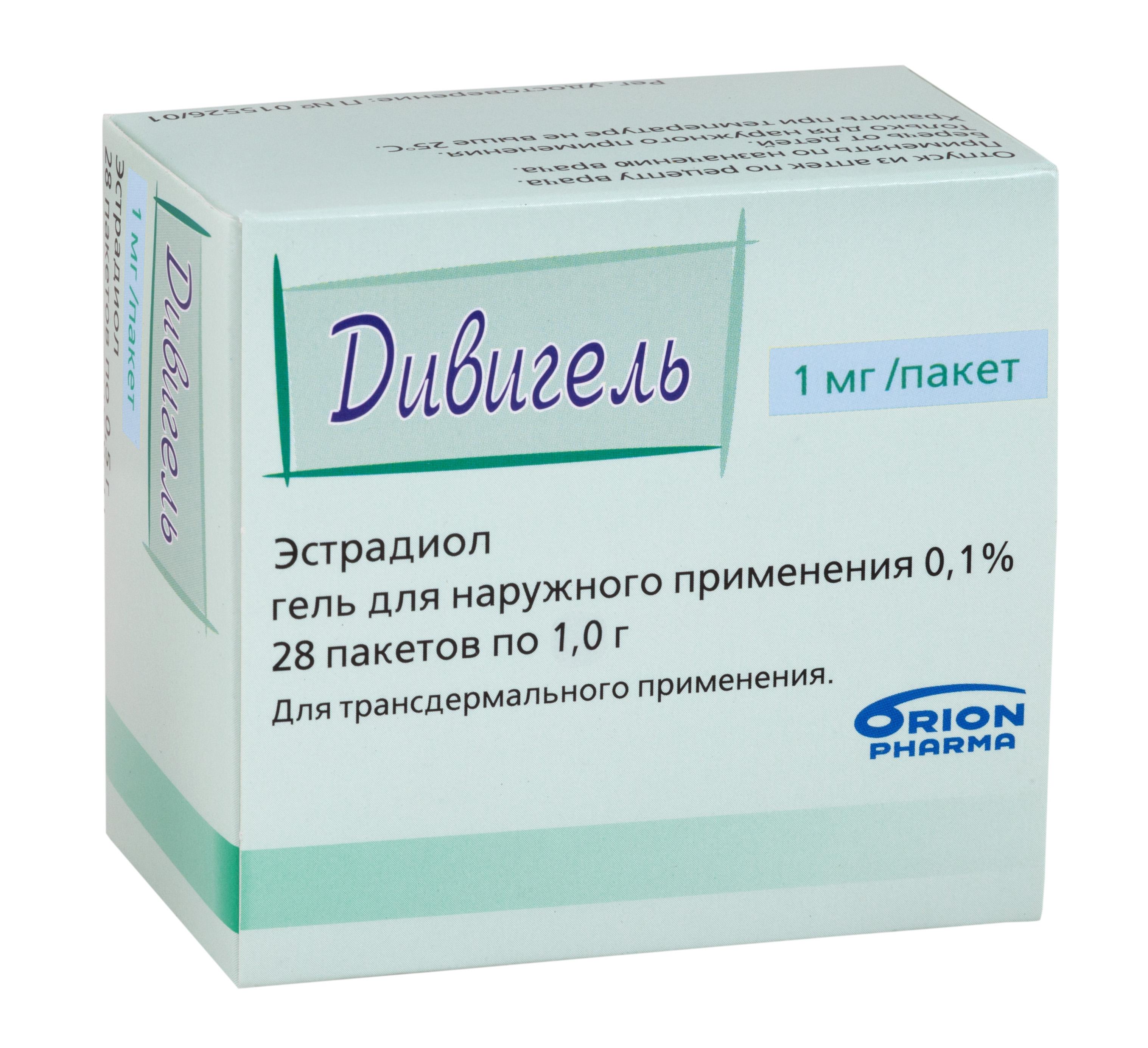 Дивигель гель трансдерм. 0,1% 1г n28