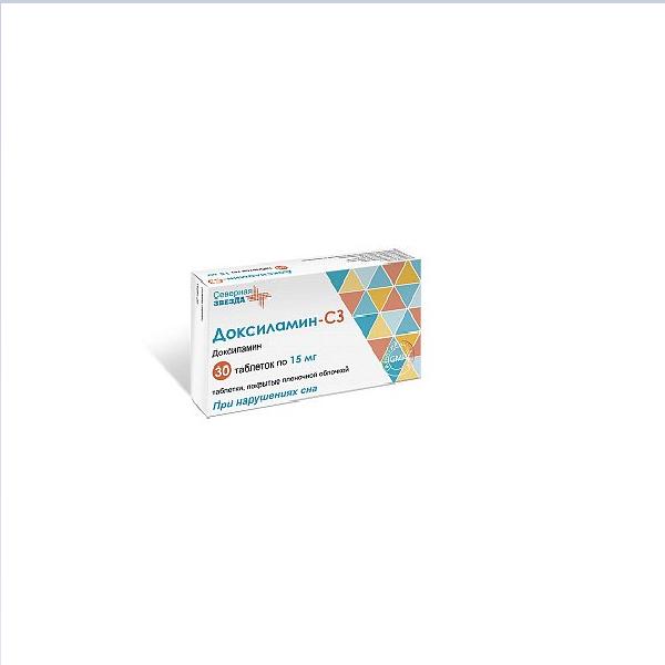 Доксиламин-сз таблетки п.п.о 15мг 30 шт