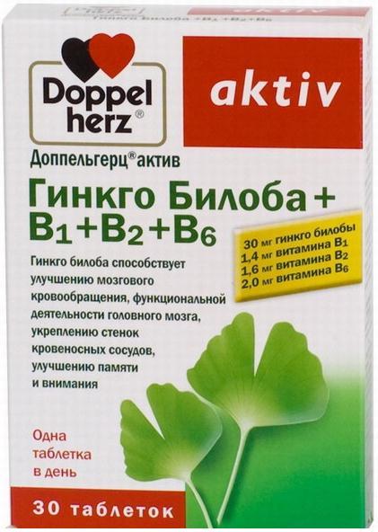 Доппельгерц актив гинкго билоба   B1   B2   B6 таб. 275 мг n30