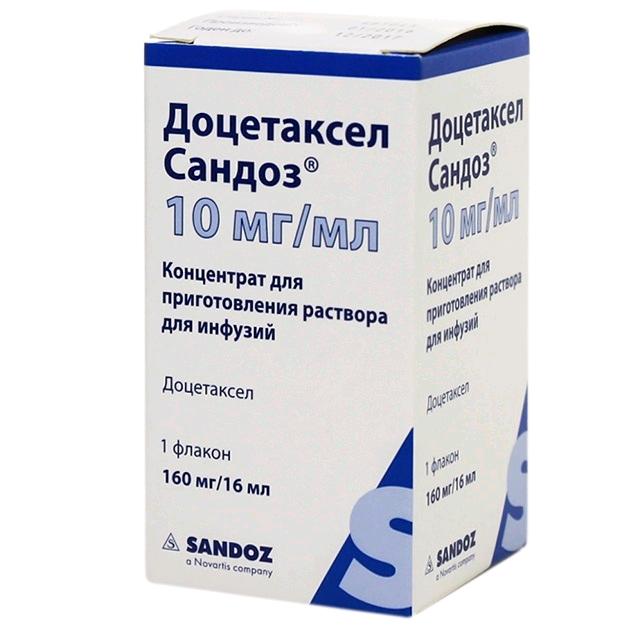 Доцетаксел сандоз конц. пригот. р-ра д/инф. 10 мг/мл фл. 16 мл №1