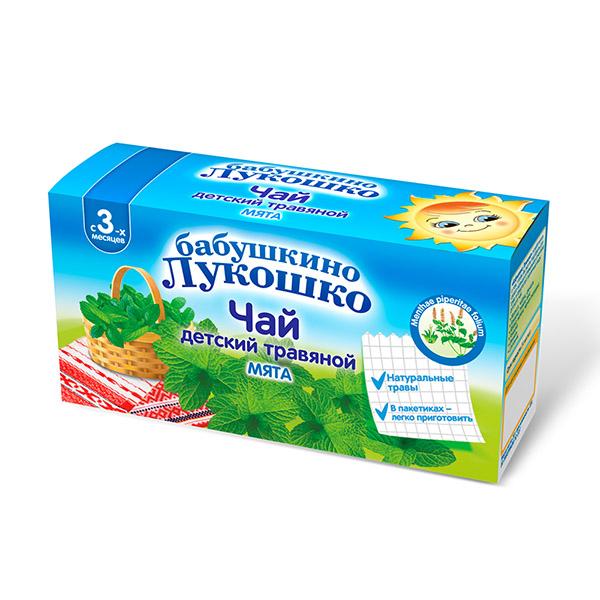 Дп бабушкино лукошко чай мята 1г n20 (3,5+мес)