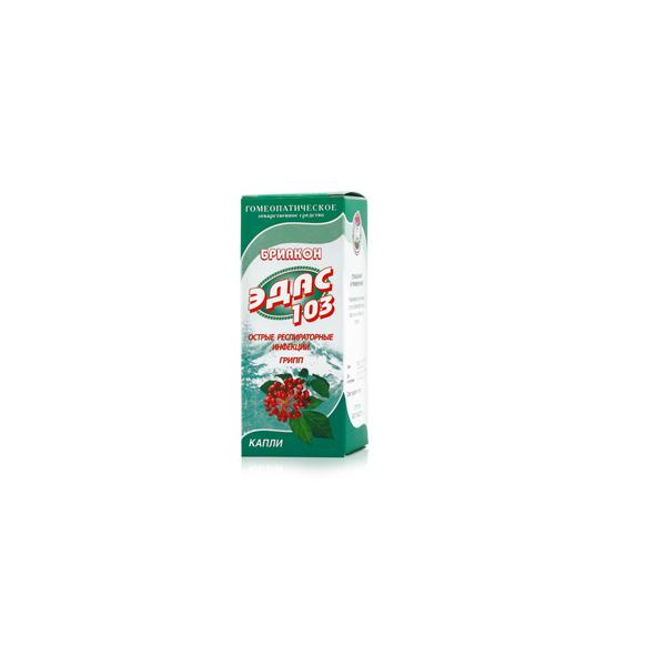 Эдас-103 бриакон капли фл. 25мл (при гриппе и простудных инфекциях)
