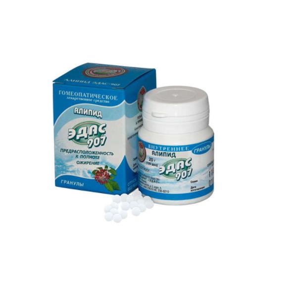 Эдас-907 алипид гранулы гомеопатические банка 20г