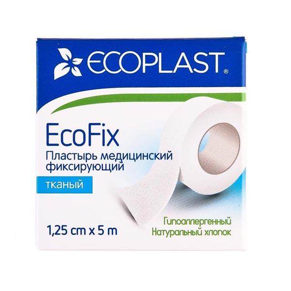 Экофикс пластырь медицинский фиксирующий тканый 1,25смх5м