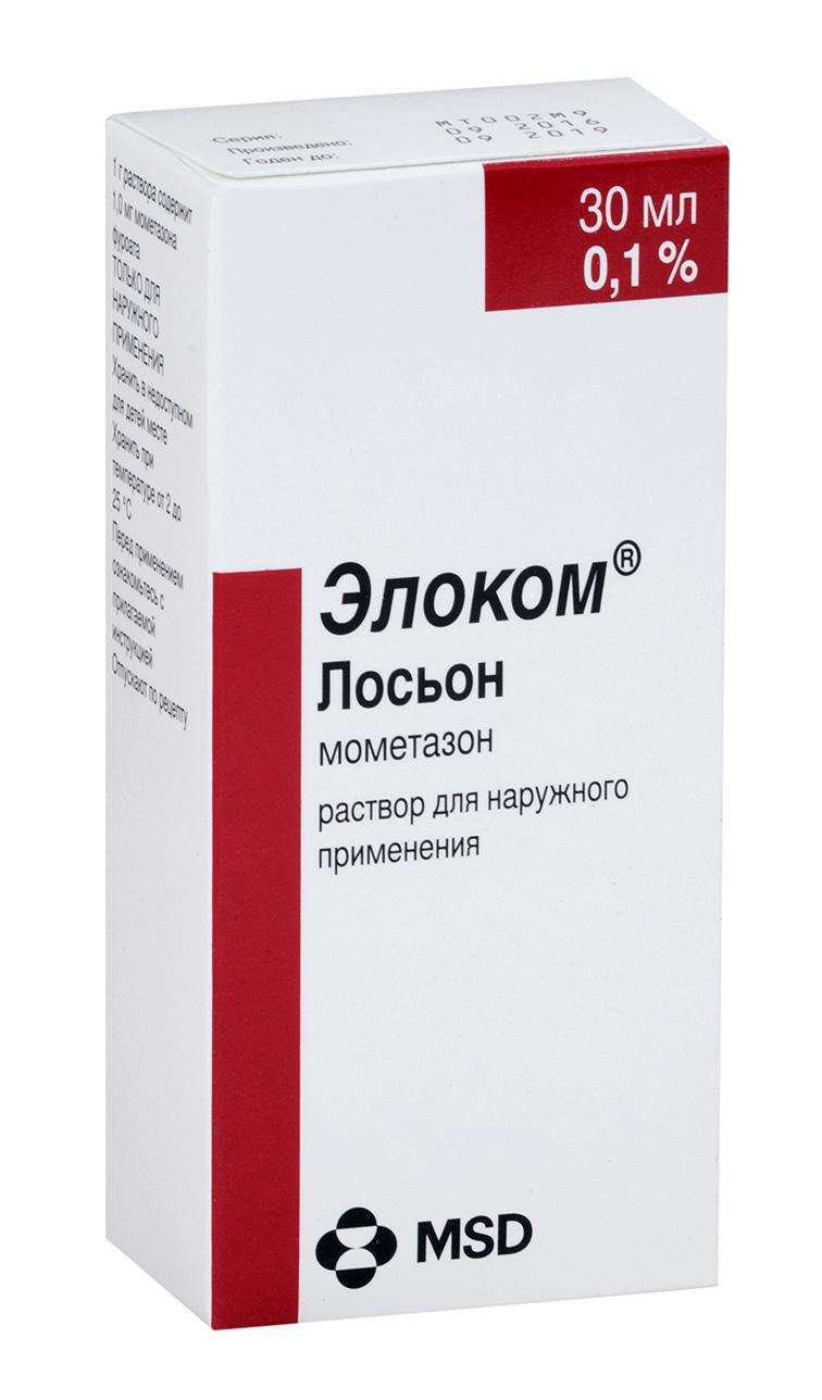 Элоком лосьон р-р д/наружн. прим. 0,1% 30мл
